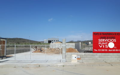 Servicios Punto Viso pone en marcha el punto de transferencia de RCD´S en Linares de Riofrío.