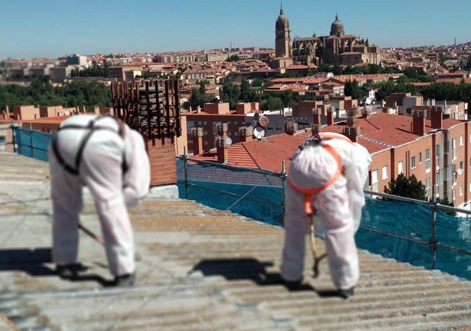 En este caso para RESAN en el barrio San José de Salamanca realizando labores de desamiantado