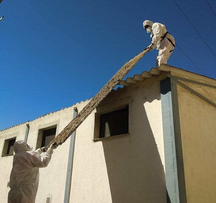 Trabajando en el edificio CSIF de Salamanca erradicando el amianto
