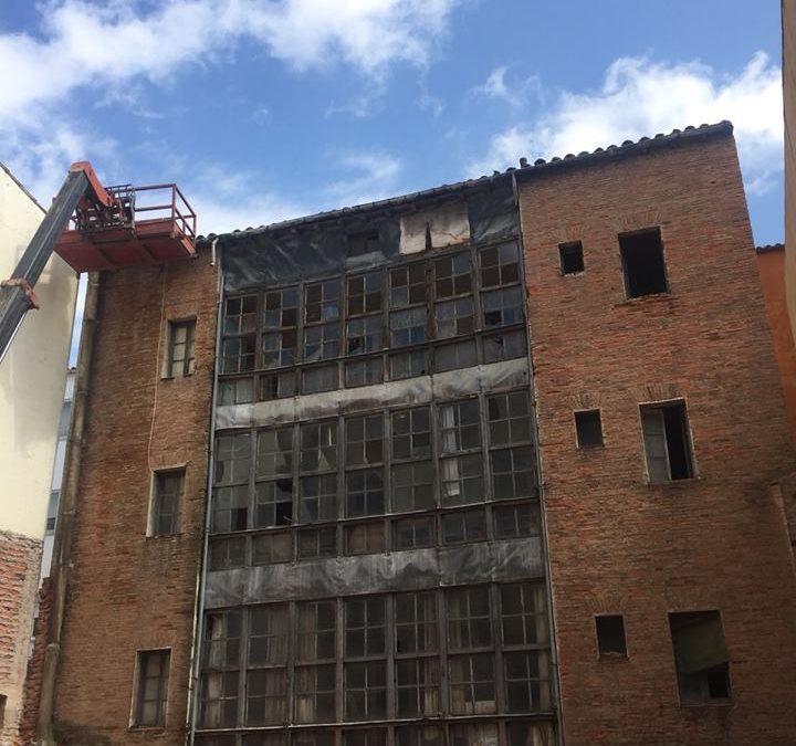Retirada de bajantes con amianto en Soria