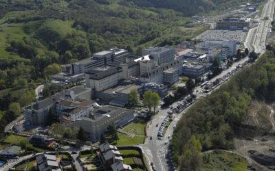 Desmontaje cubiertas de amianto hospital Donosti