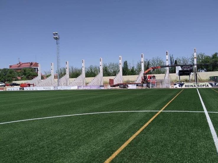 Obras en el estadio Reina Sofía