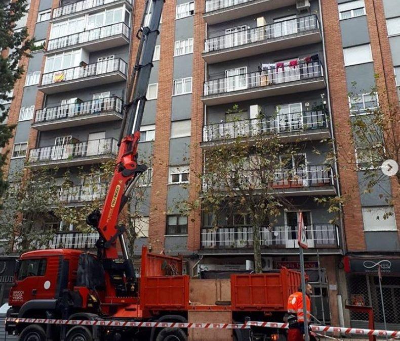 Trabajos de elevación en Salamanca